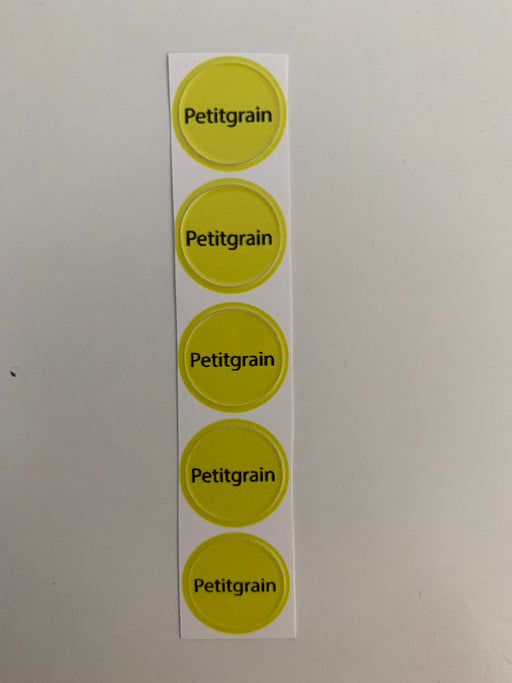 Petitgrain Bottle Top Labels