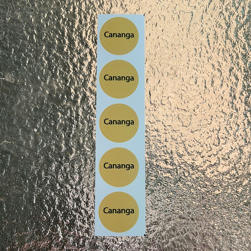 Cananga Bottle Cap Labels
