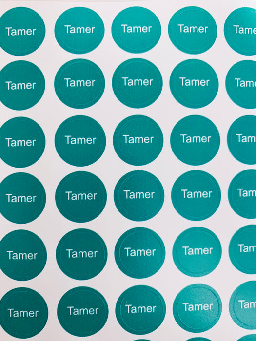 Tamer Bottle Top Labels
