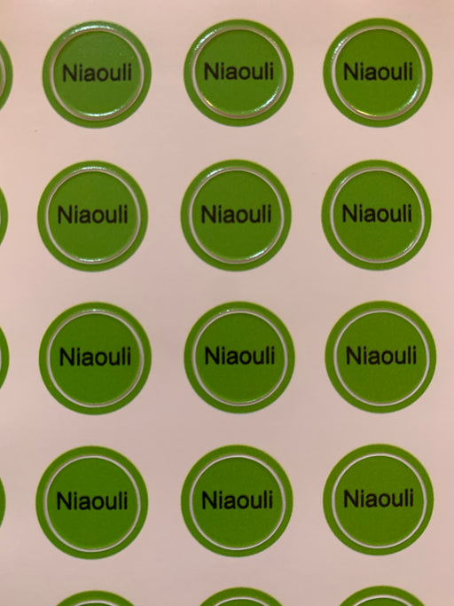 Niaouli Bottle Top Labels