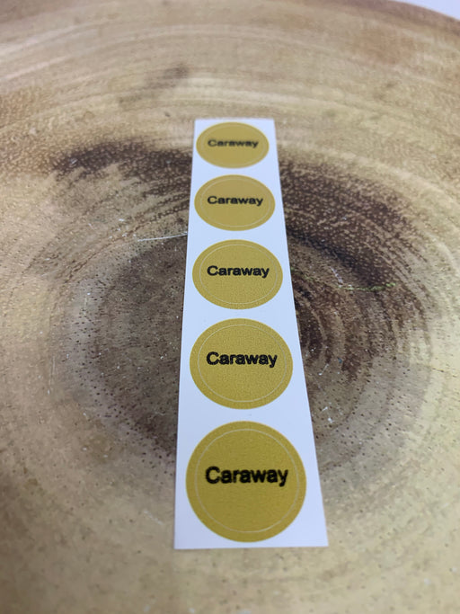 Caraway Bottle Cap Labels