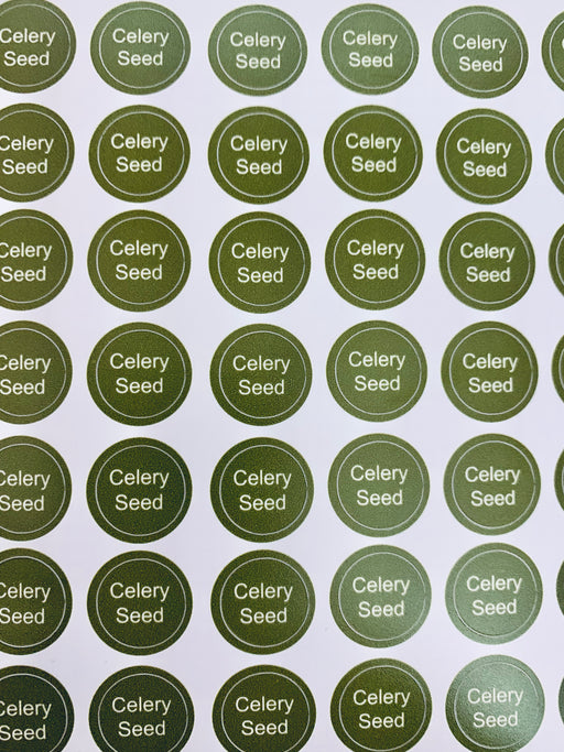 Celery Seed Bottle Top Labels