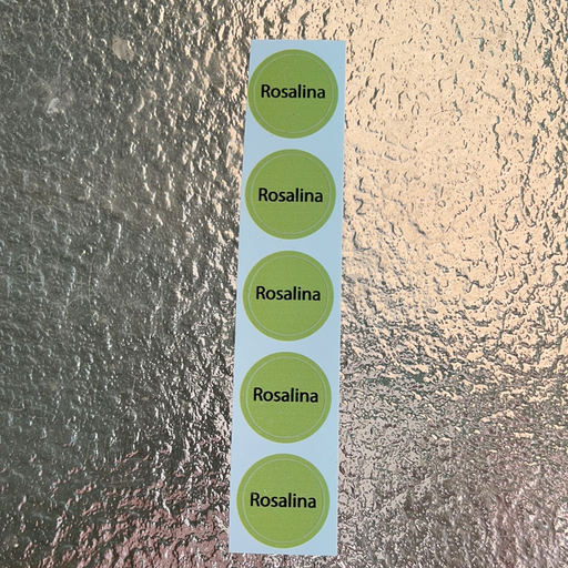 Rosalina Bottle Cap Labels