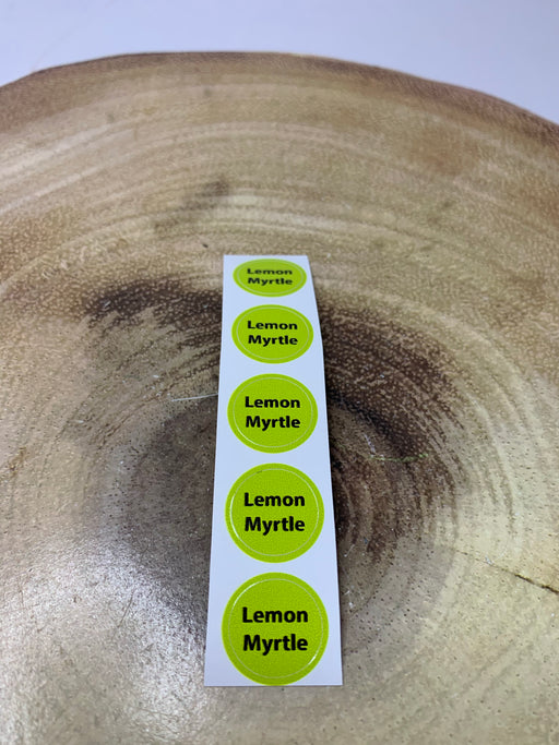 Lemon Myrtle Bottle Cap Labels
