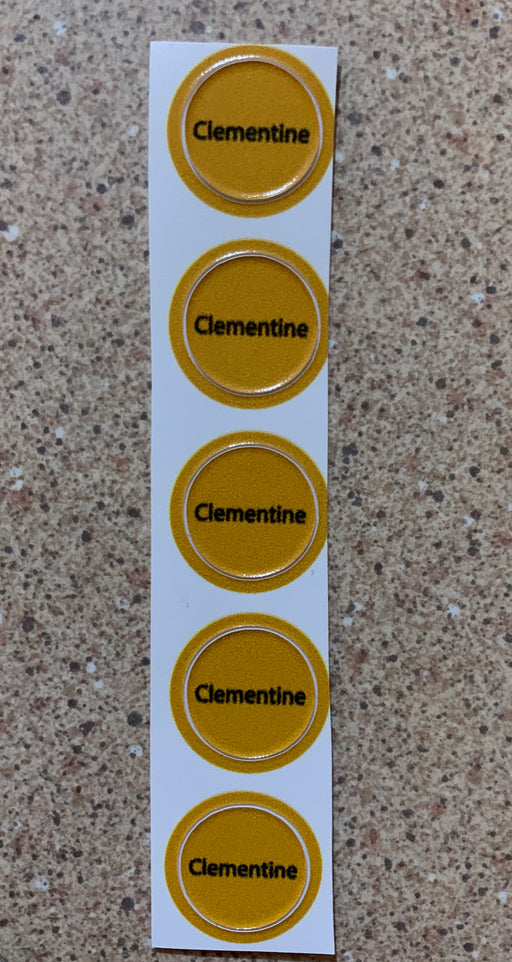 Clementine Bottle Top Labels