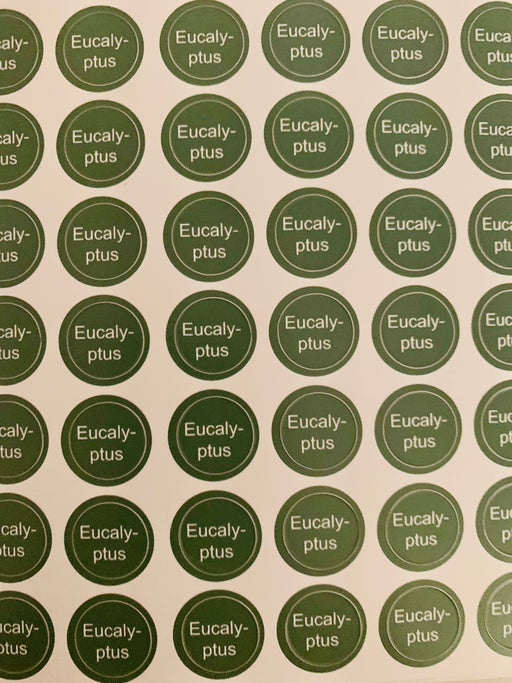 Eucalyptus Bottle Top Label Sheet