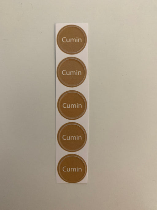 Cumin Bottle Top Label