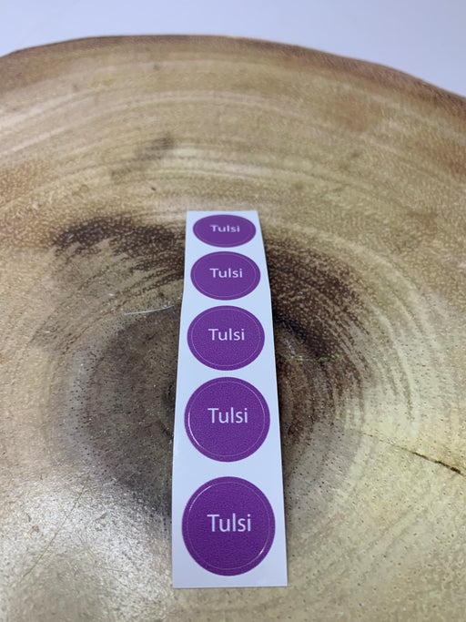 Tulsi Bottle Cap Labels