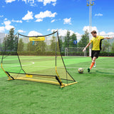 PodiuMax Portable Soccer Trainer, 2 in 1 Soccer Rebounder Net, 6ft x 4.7ft