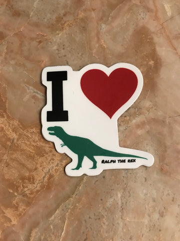 I Heart T-Rex Decal Sticker