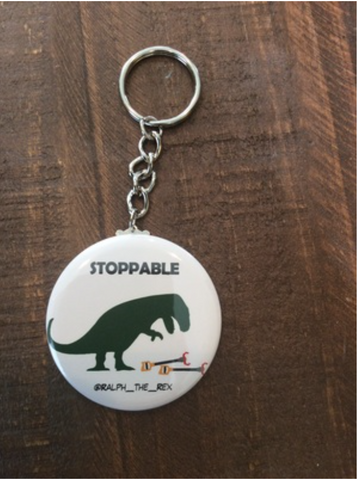 "T-Rex Keychain ""Stoppable"""