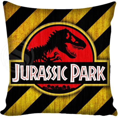 Customized Pillow Cover Jurassic Park Logo  20X20cm,35X35cm(one side)