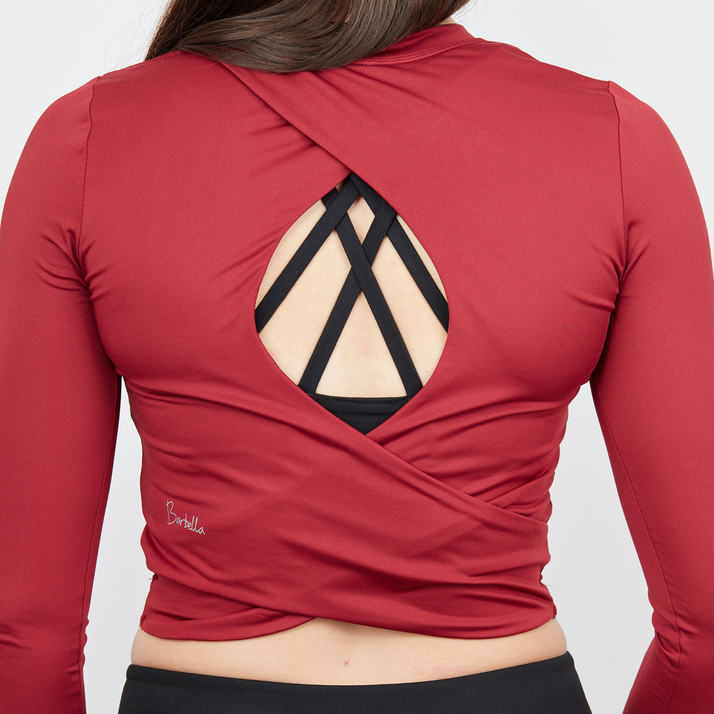 Chloe Crop - Crimson