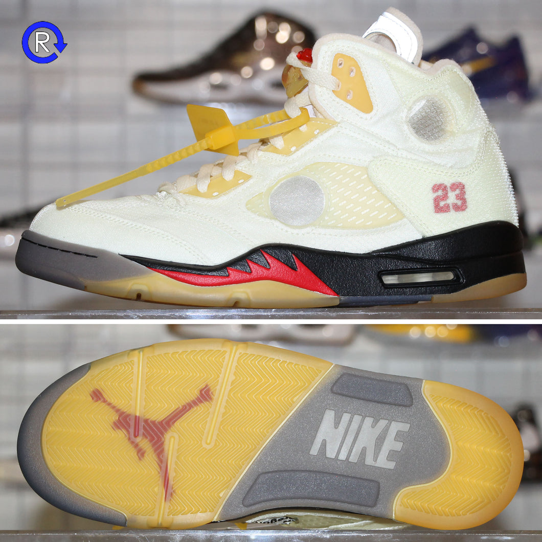 'Sail' Off-White x Air Jordan 5 (2020) | Size 9 Brand new, deadstock.