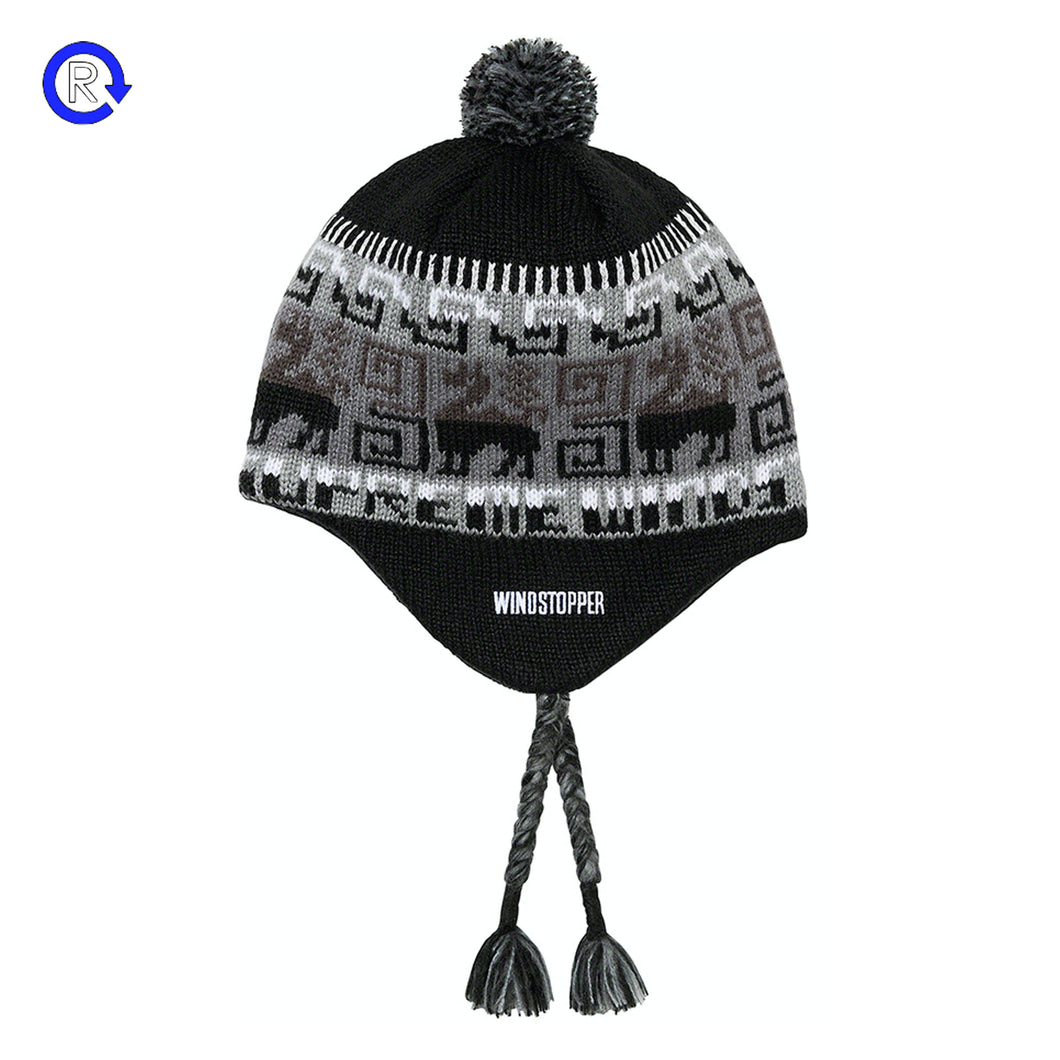Supreme Black Chullo Windstopper Earflap Beanie (FW20)
