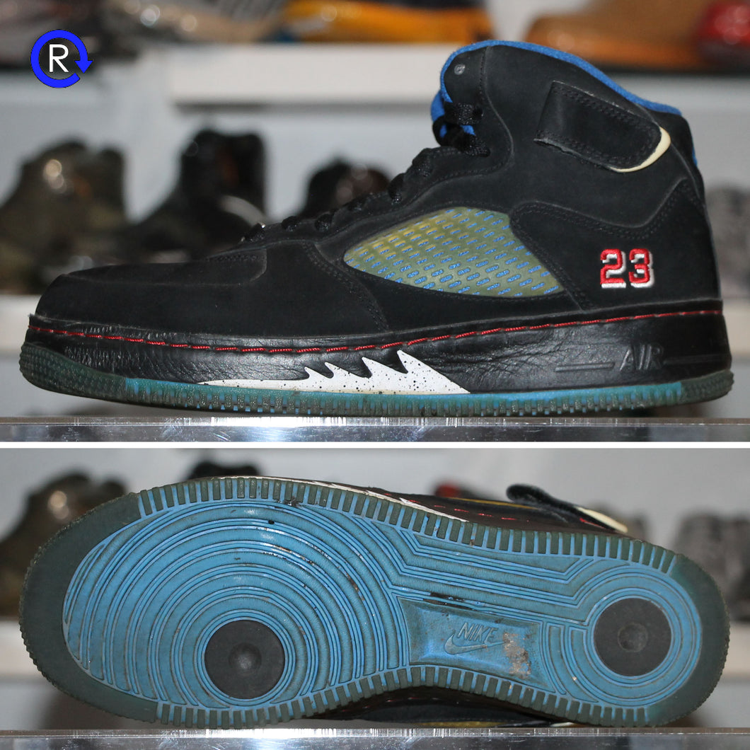 'Black/Blue Ribbon' Air Jordan 5 Fusion (2008) | Size 9.5 Condition: 8/10.