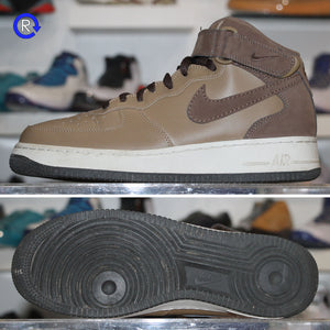 'Brown/Tan' Nike Air Force 1 Mid | Size 9.5 Condition: 9.5/10.