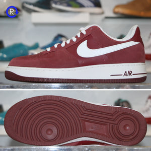 'Burgundy/White' Nike Air Force 1 Low | Size 9.5 Condition: 9/10.