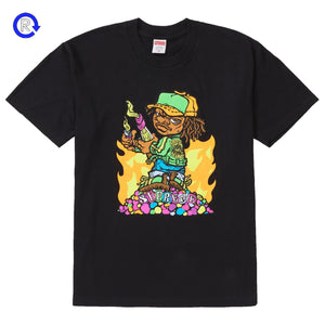 Supreme Black Molotov Kid Tee (SS19)