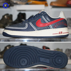 'Midnight Navy/Varsity Red' Nike Air Force 1 Premium UTT Clowns (2006) | Size 9.5 Condition: 9/10.