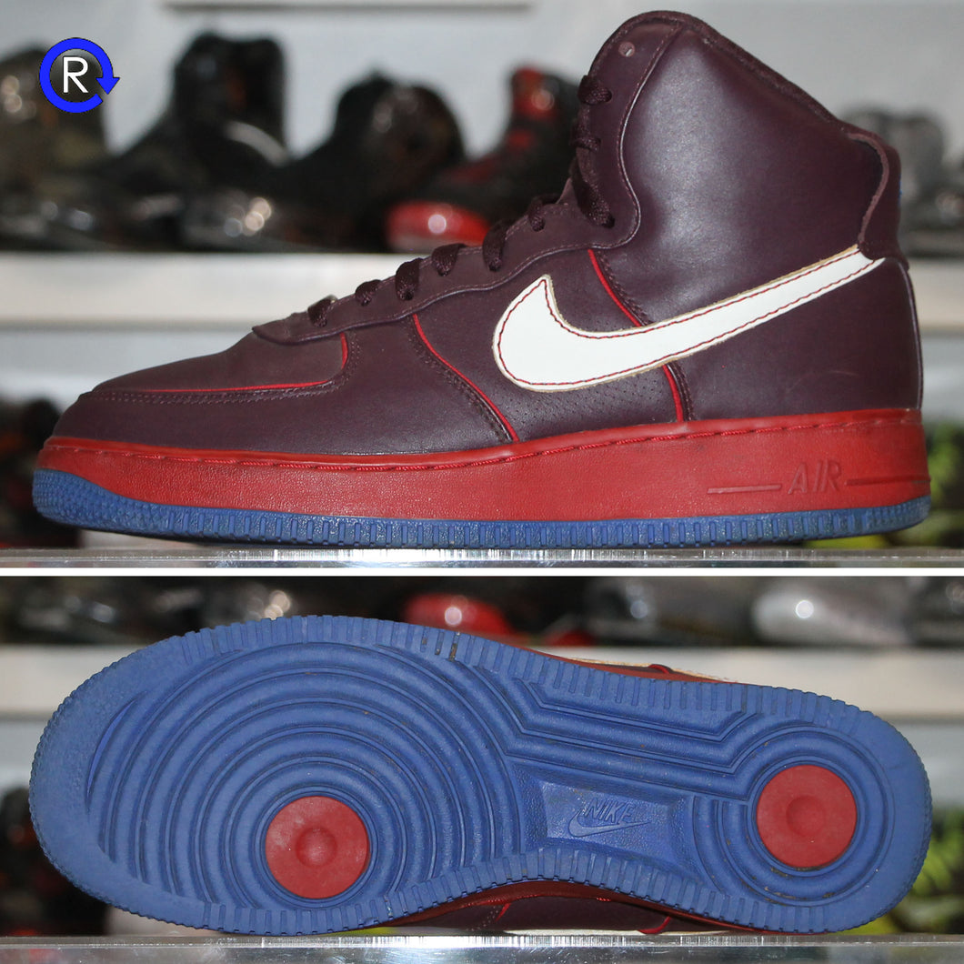 'Maroon/Blue' Nike Air Force 1 High Charles Barkley (2007) | Size 9.5 Condition: 8.5/10.