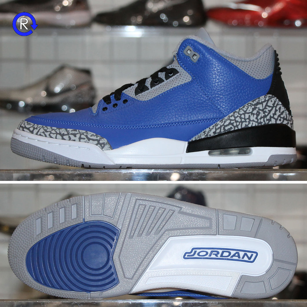 'Varsity Royal/Cement' Air Jordan 3 (2020) | Size 10.5 Condition: 9.5/10.