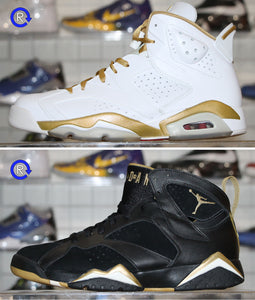 'Golden Moments' Air Jordan 6/7 Package (2012) | Size 9.5 Conditon: 9.5/10.