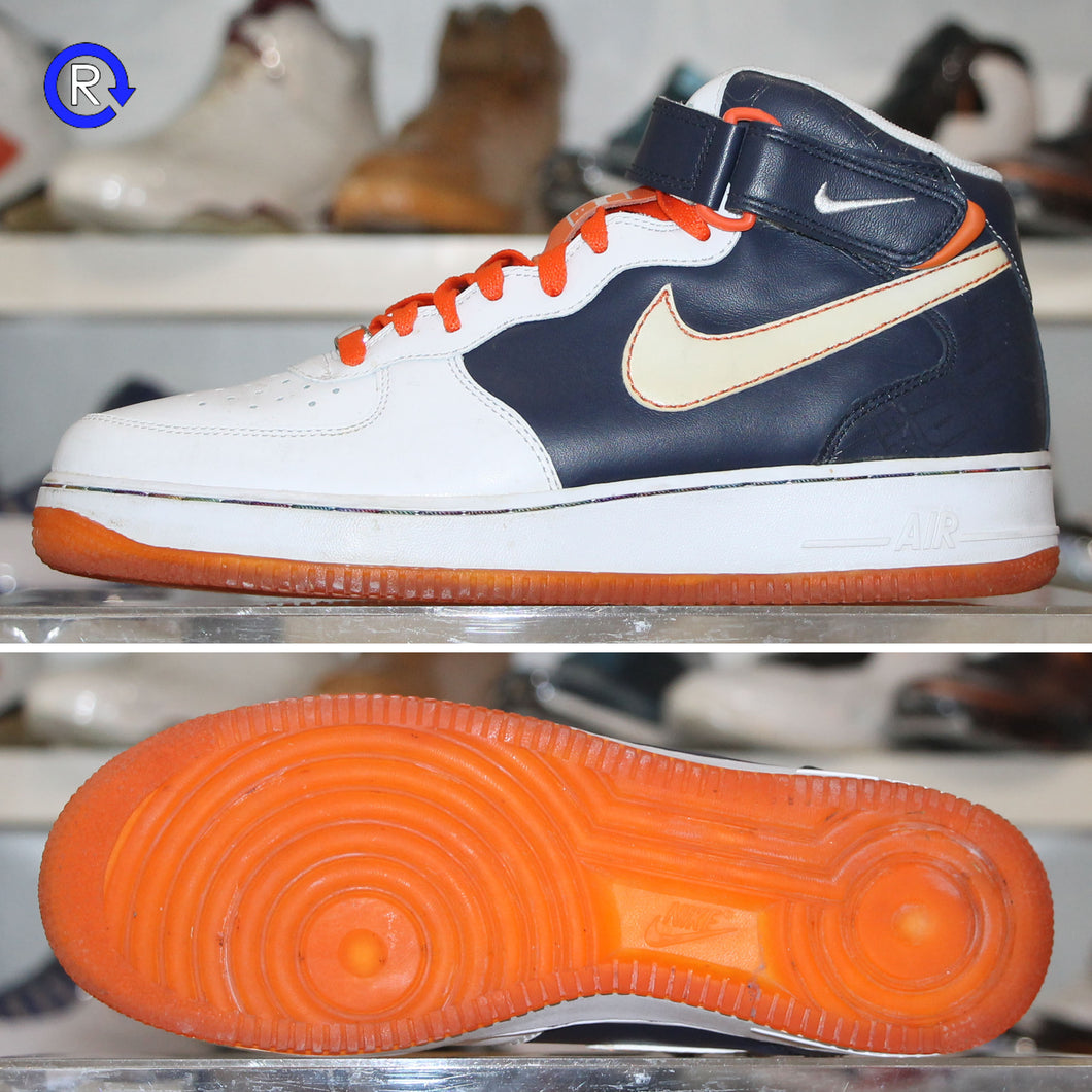 'Obsidian/White-Orange Blaze' Air Force 1 Mid '07 (2007) | Size 9.5 Condition: 9/10.