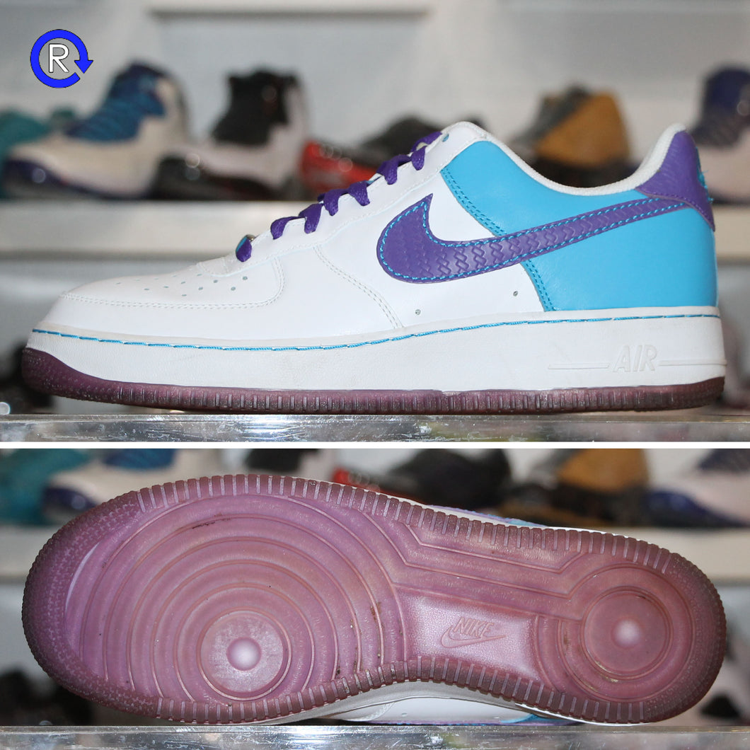'Varsity Purple/Laser Blue' Nike Air Force 1 Low (2007) | Size 9.5 Condition: 9/10.