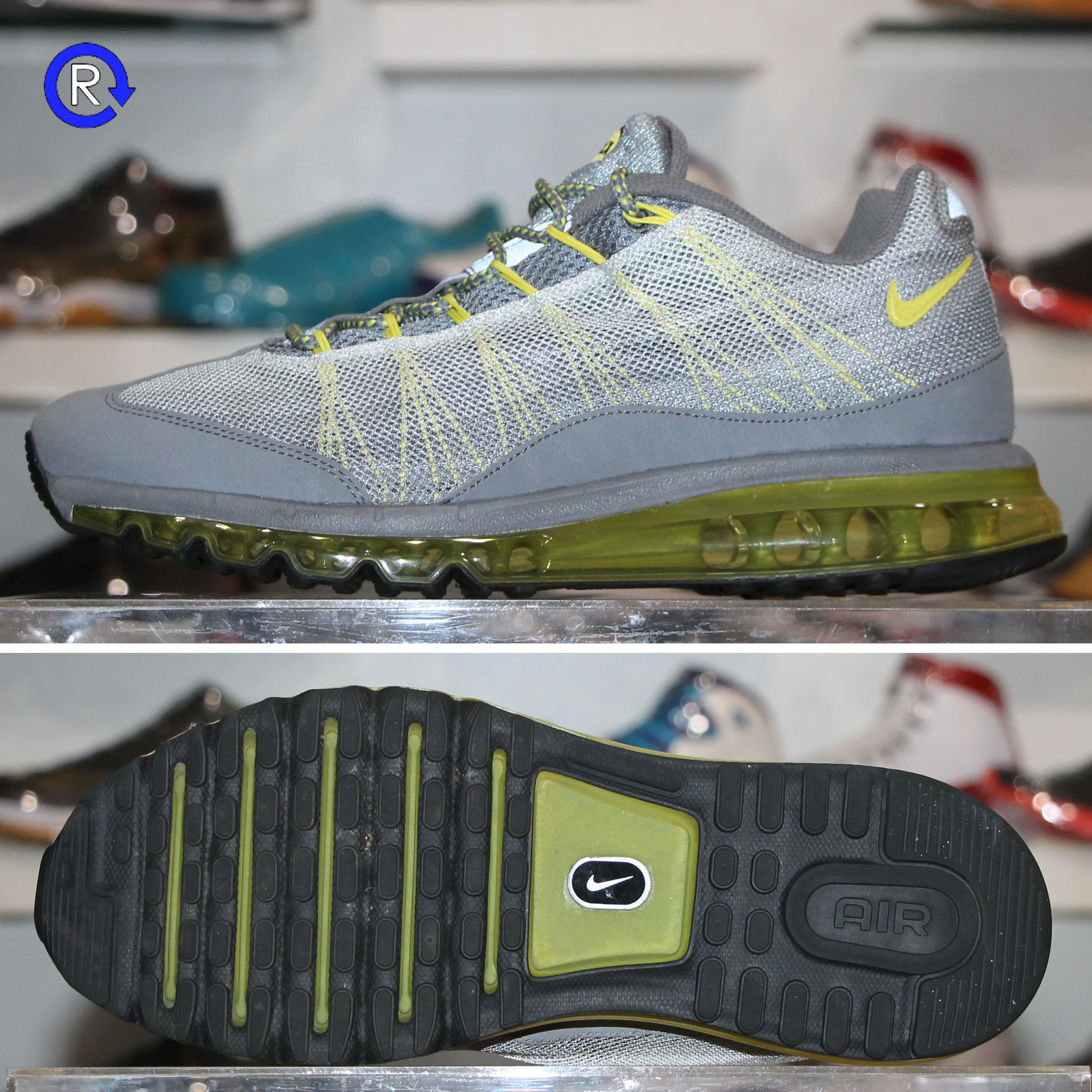 'Cool GreySonic Yellow' Nike Air Max 95 2013 Dynamic Flywire (2013) Rozmiar 11.5 Stan: 8.510.  Size 11.5 Condition: 8.510.