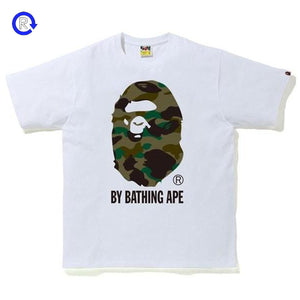 Bape White/Green 1st Camo By Bathing Ape Tee (SS20)