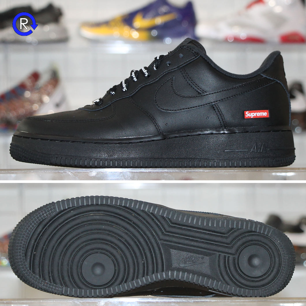 'Black' Supreme x Nike Air Force 1 Low (2020) | Size 8.5 Condition: 9.5/10.