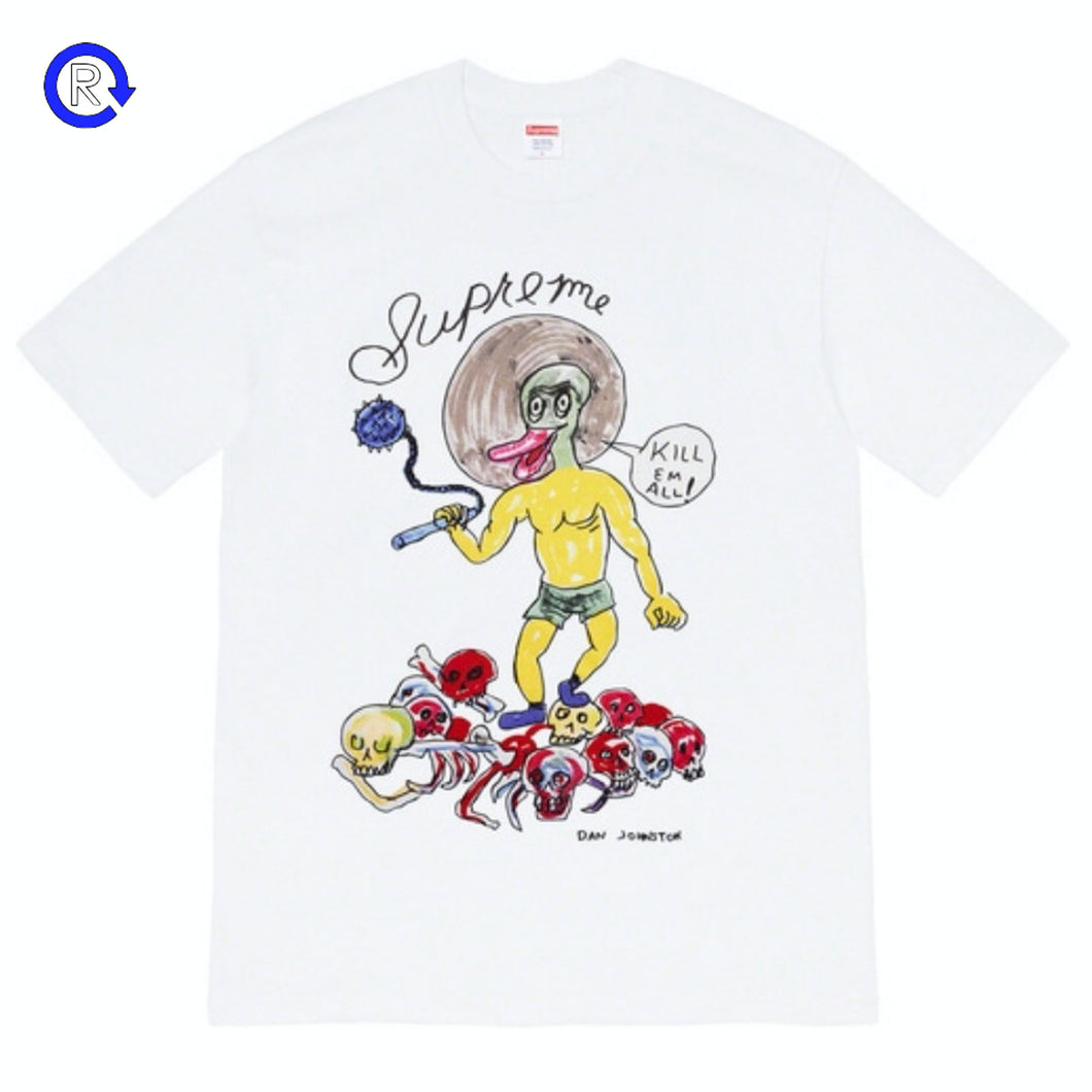 Supreme x Daniel Johnston Whie Kill Em All Tee (SS20)
