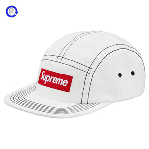 Supreme White Contrast Stitch Camp Cap (SS18)