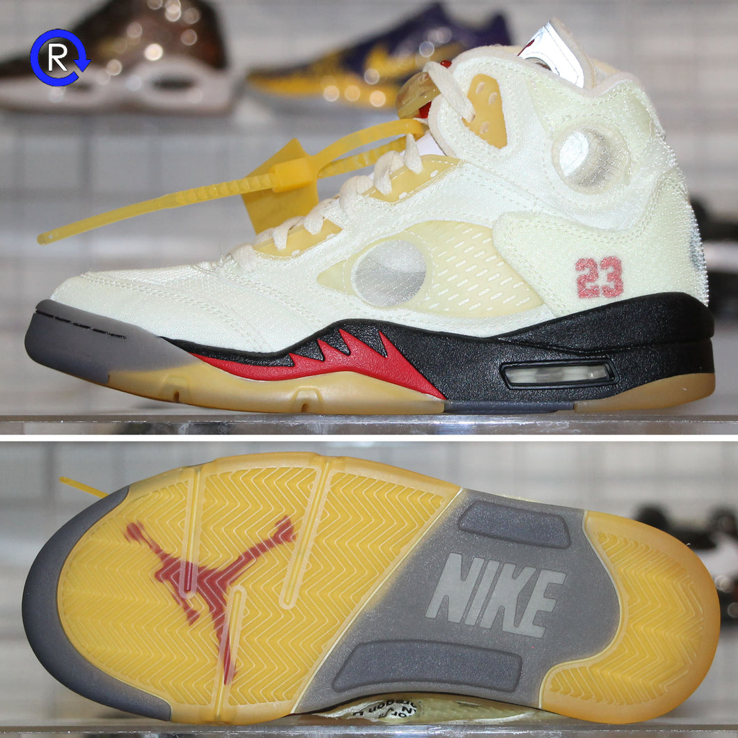 'Sail' Off-White x Air Jordan 5 (2020) | Size 6.5 Brand new, deadstock.