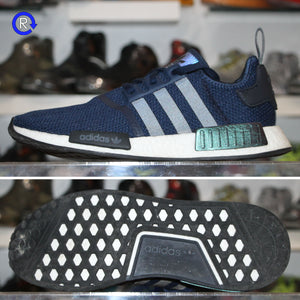 'Navy/White' Adidas NMD R1 | Size 11.5 Condition: 9/10.