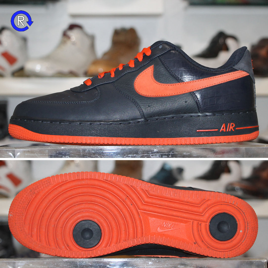 'Navy/Orange' Nike Air Force 1 Low (2008) | Size 11.5 Condition: 9.5/10.