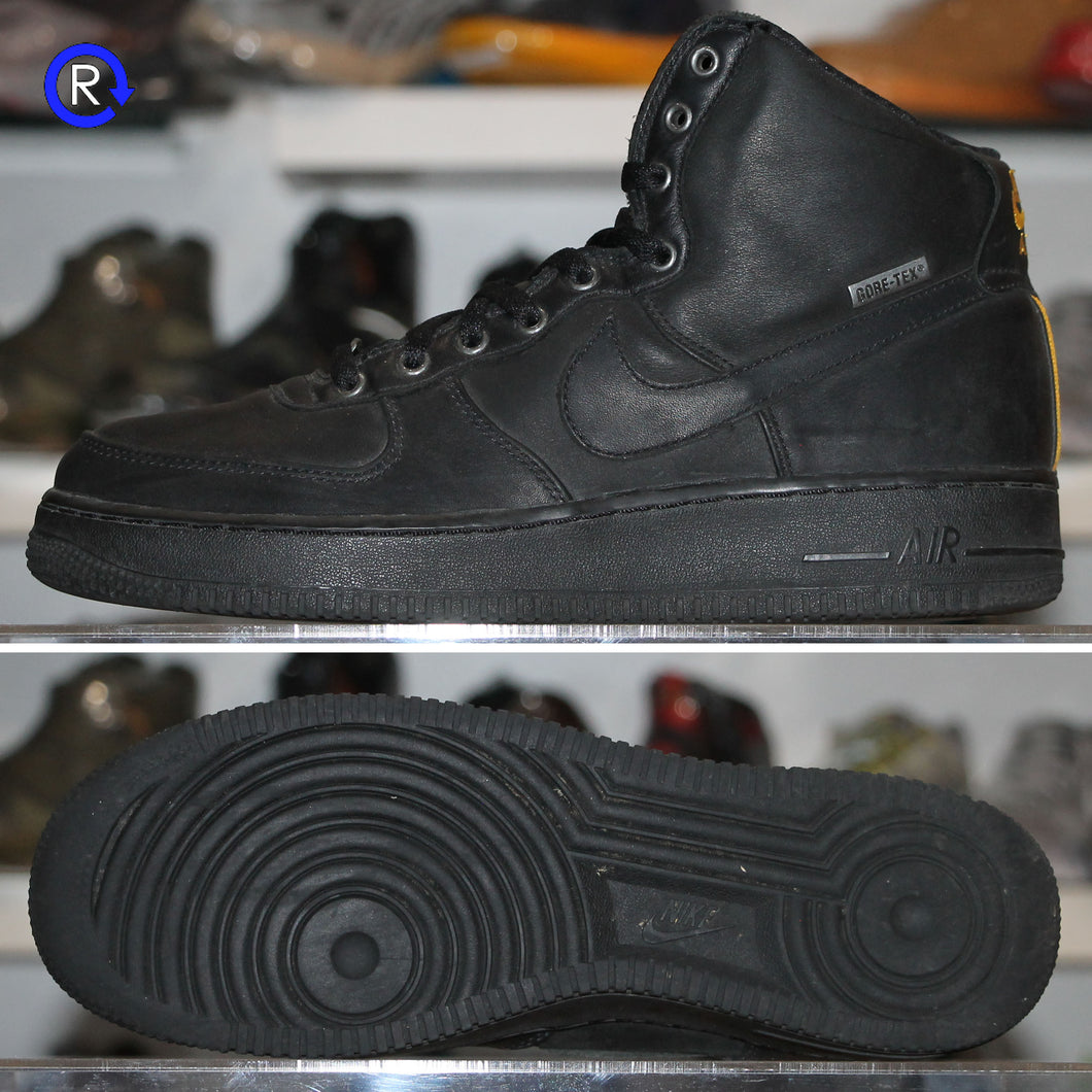 'Black/Gold' Nike Gore-Tex Air Force 1 High (N2Winter) (2005) | Size 9.5 Condition: 8/10.