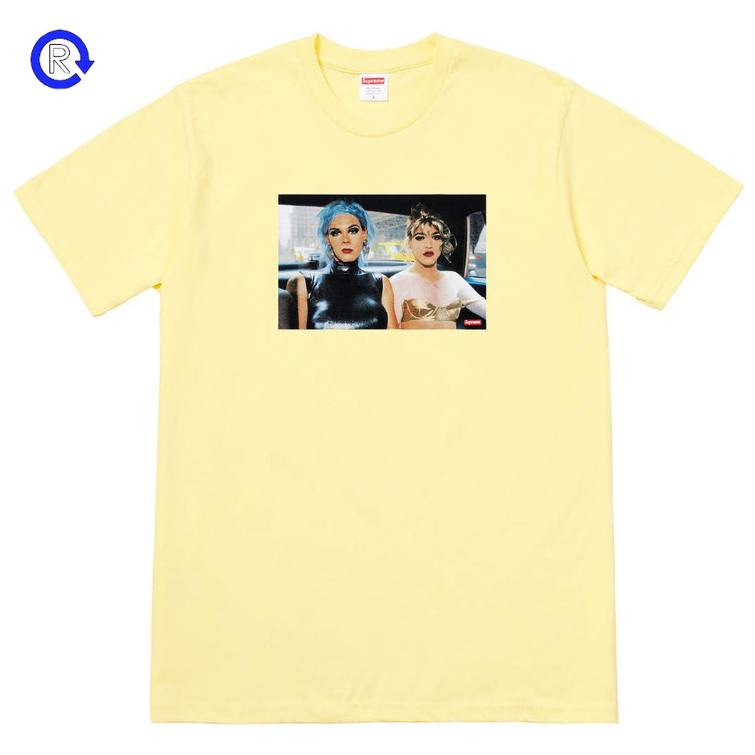Supreme x Nan Goldin Pale Yellow Misty & Jimmy Paulette Tee (SS18)