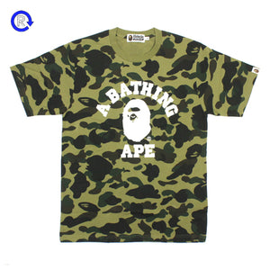 A Bathing Ape Bape 1st Camo College Tee