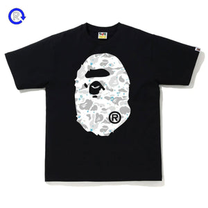 Bape Black Space Camo Big Ape Head Tee