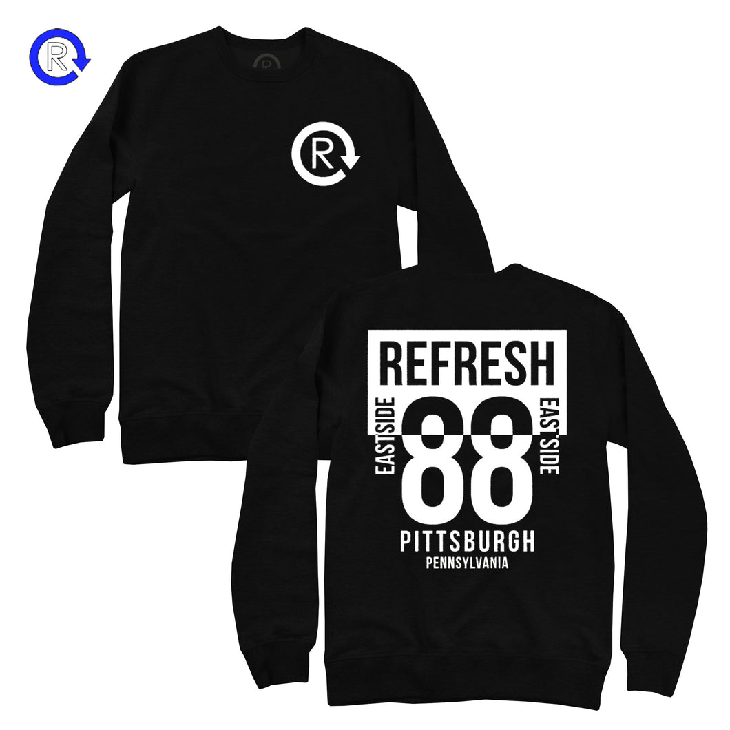 Refresh PGH 'Black/White' 88 Crewneck