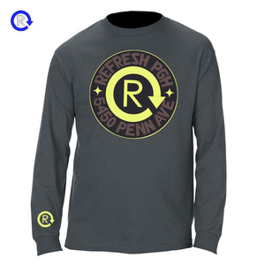 Refresh PGH 'Charcoal/Neon' Address LS Tee