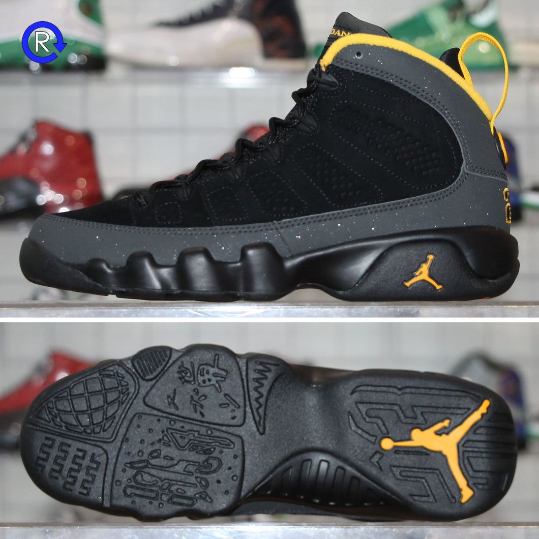 'Dark Charcoal/University Gold' Air Jordan 9 GS (2021) | Size 5 Brand new, deadstock.