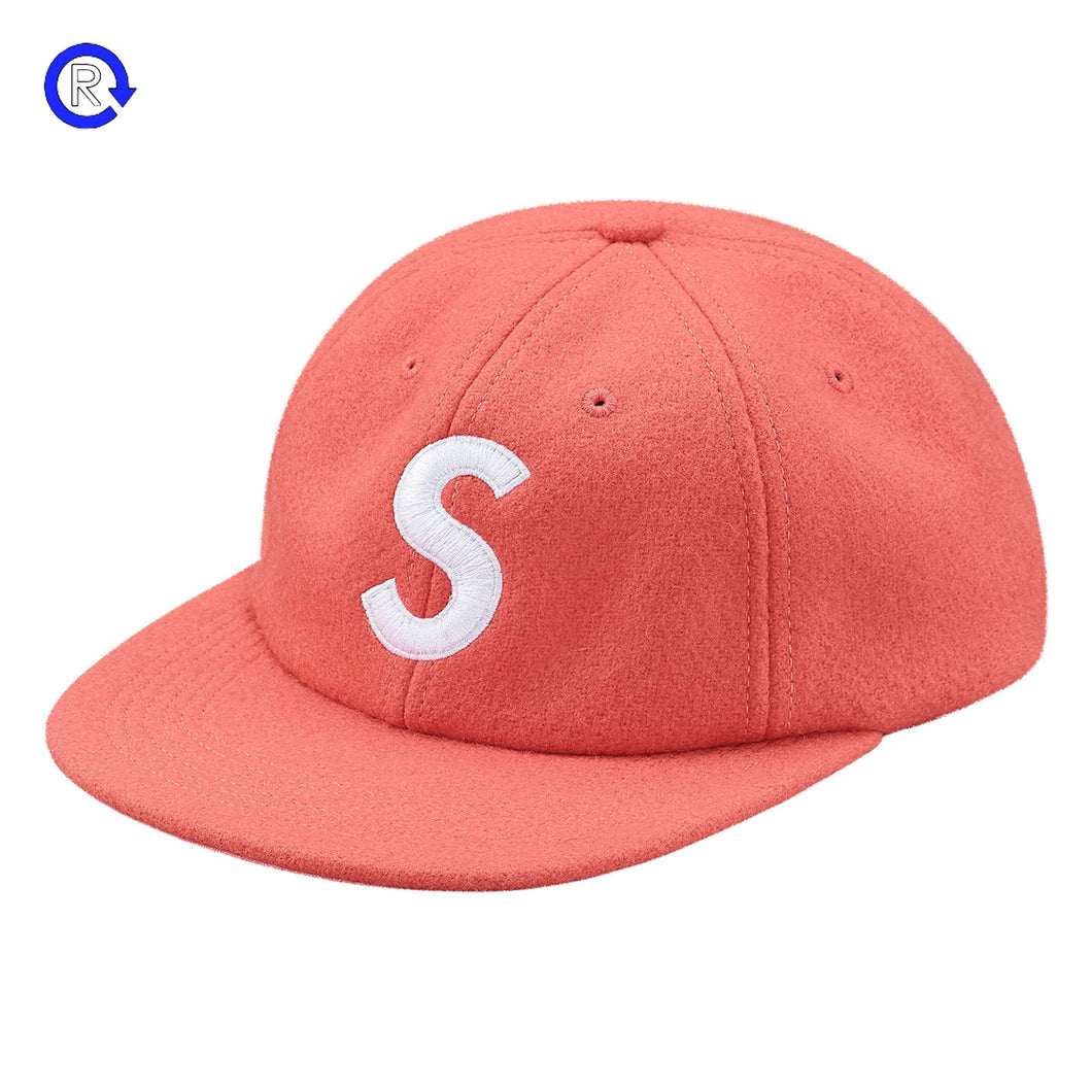 Supreme Dark Pink 'Wool' S Logo 6-Panel (FW17)