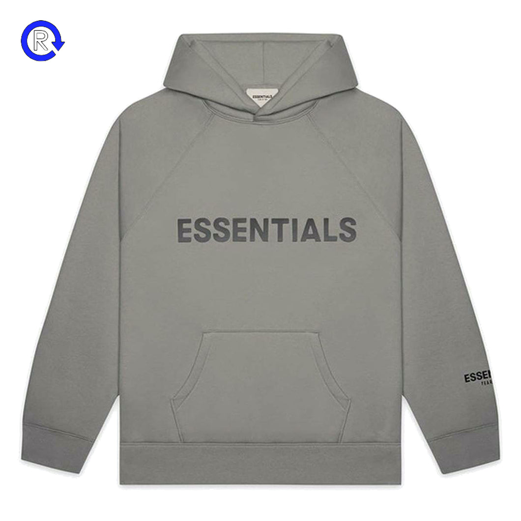 Fear of God Essentials Cement Applique Logo Pullover Hoodie