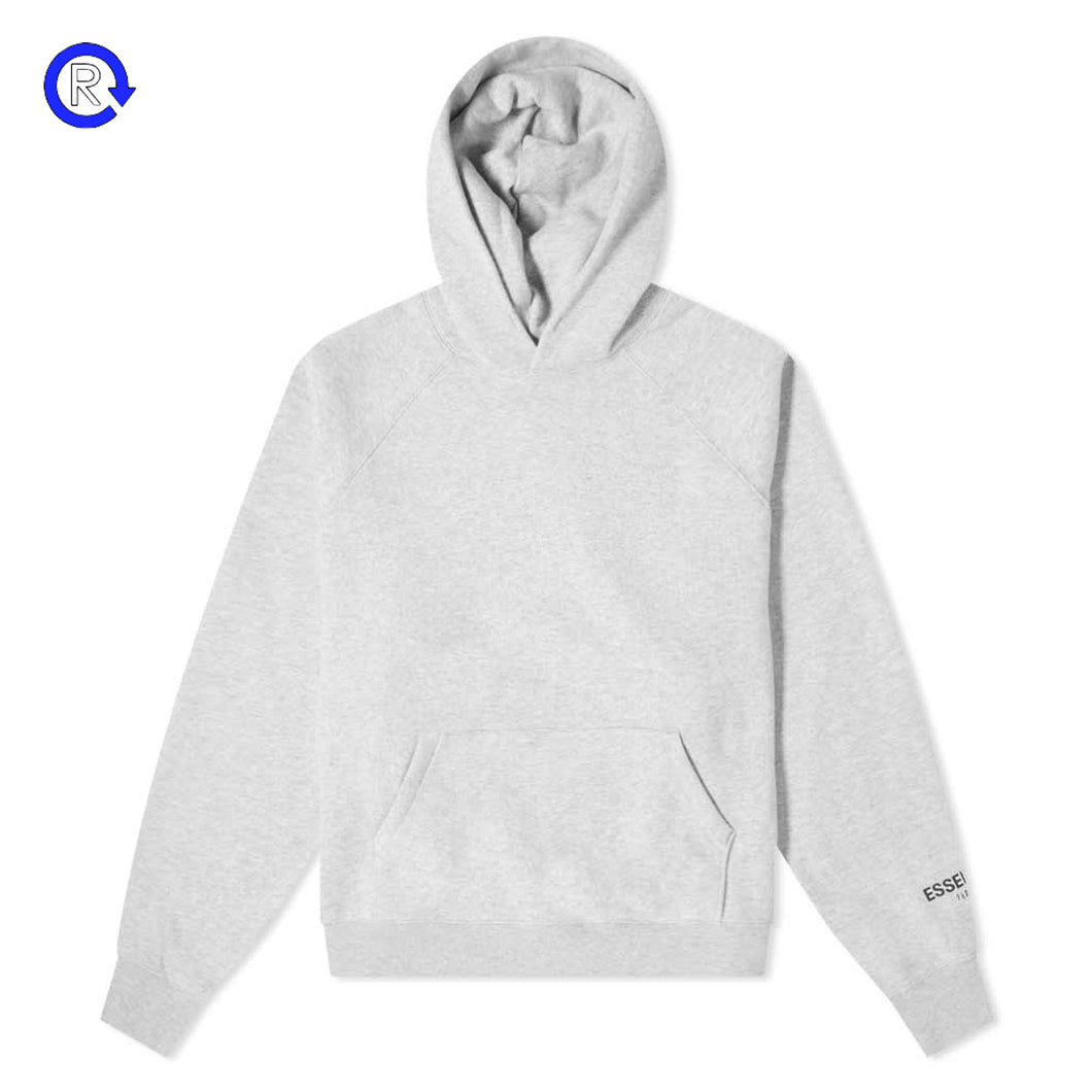 Fear of God Essentials Heather Grey Core Pullover Hoodie