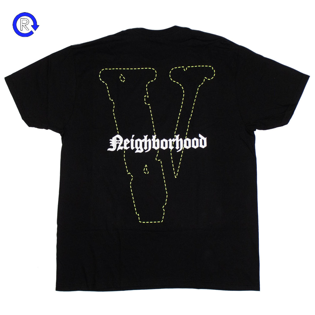 Vlone x Neighborhood Green Skull Tee