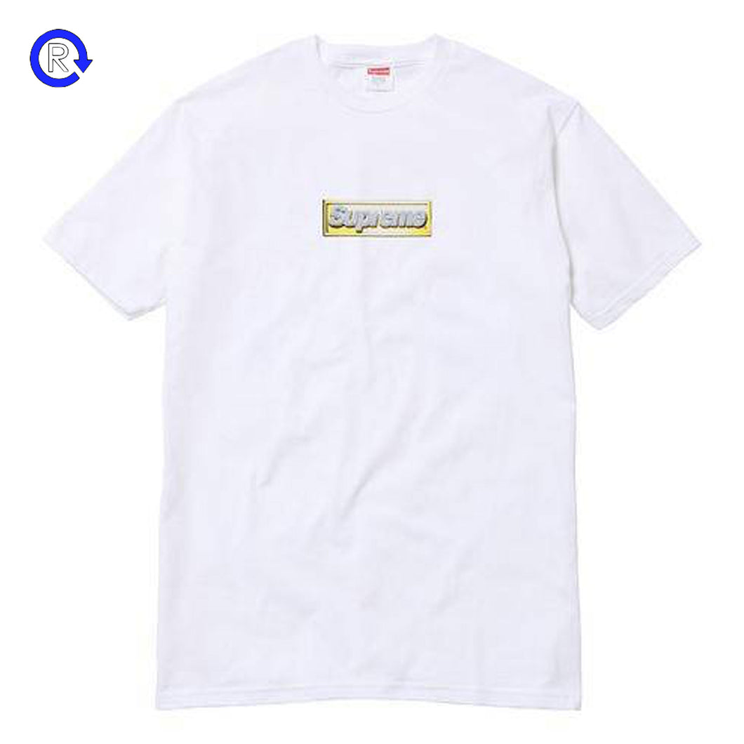 Supreme White 'Bling' Box Logo Tee (SS13)