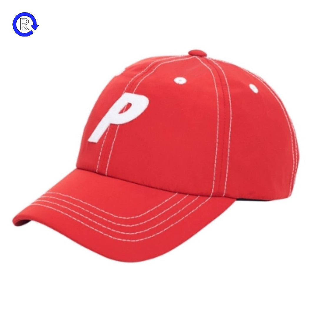 Palace Red Poplin P Cap